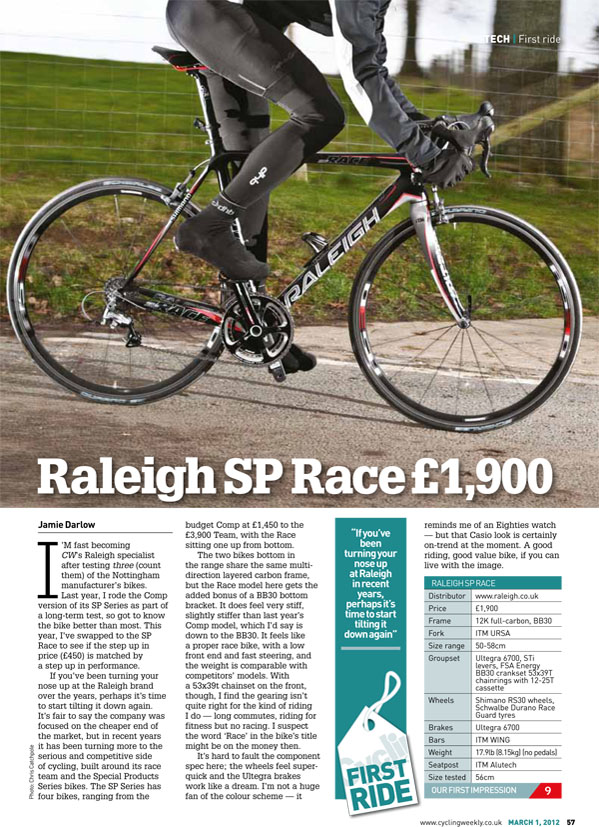 Cycling Weekly - SP Race
